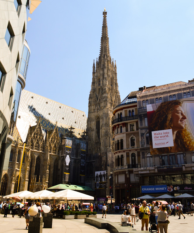 Katedra św, Szczepana na rynku w Wiedniu