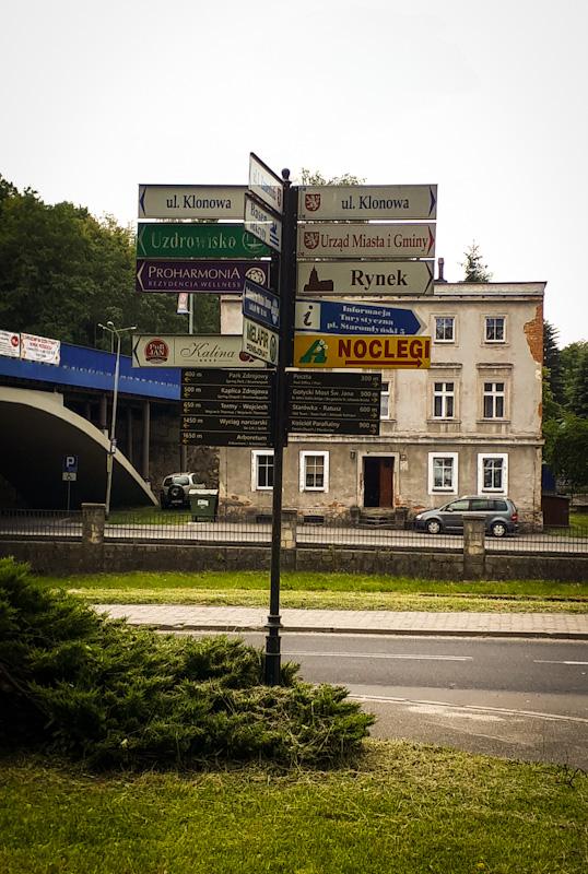 Drogowskaz Ladek Zdroj
