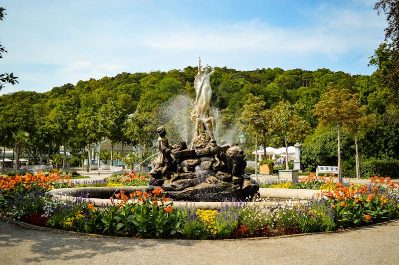 Fontanna park w Baden
