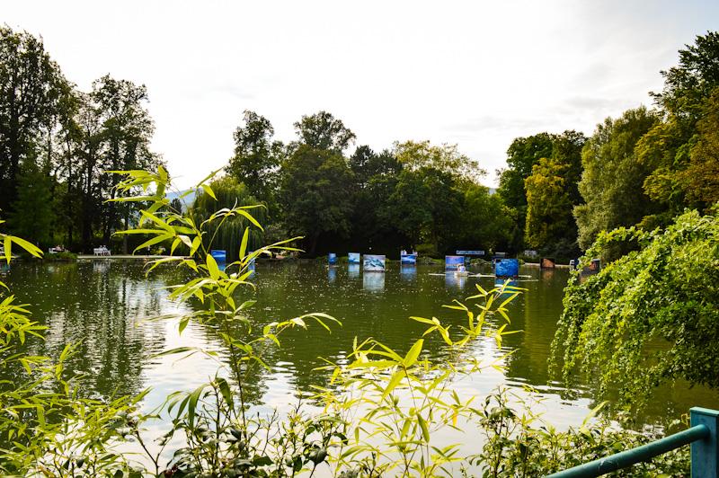 Park różany i wystawa fotografi na stawie Baden