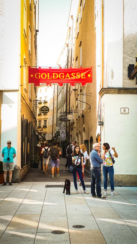Uliczka Salzburg , Goldgasse