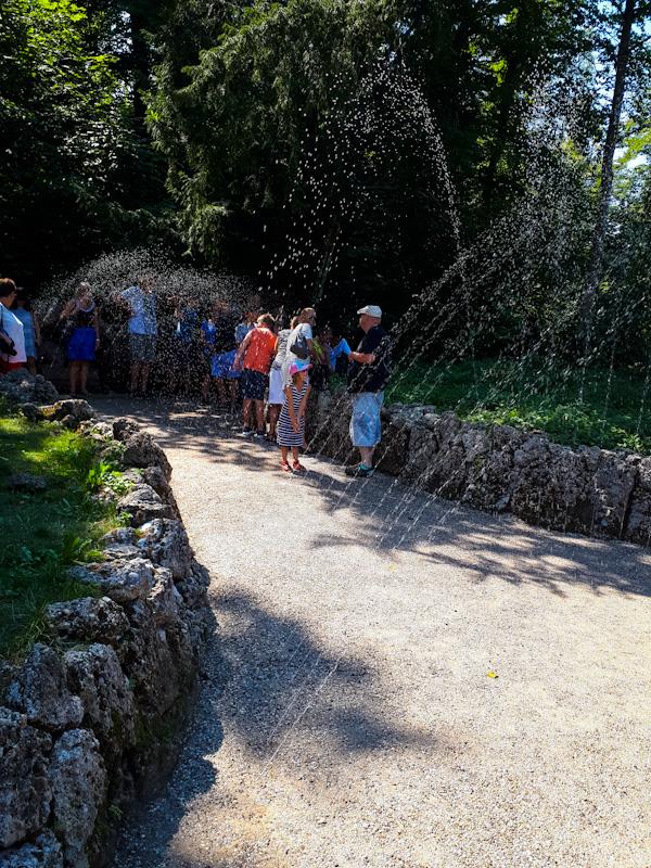 Zabawy wodne . Zamek Hellbrunn