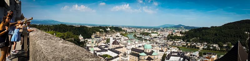 Panorama na miasto Salzburg