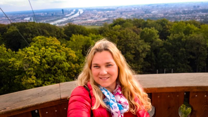 Stefani Warte , widok na Wiedeń