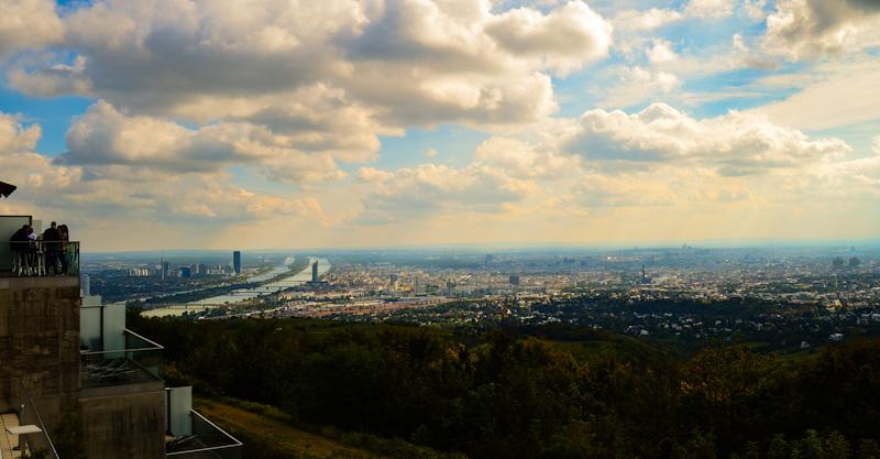 Widok z Góry Kahlenberg na Wiedeń