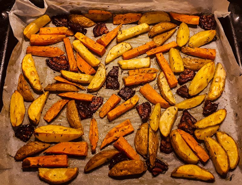Pieczone warzywa z piekarnika