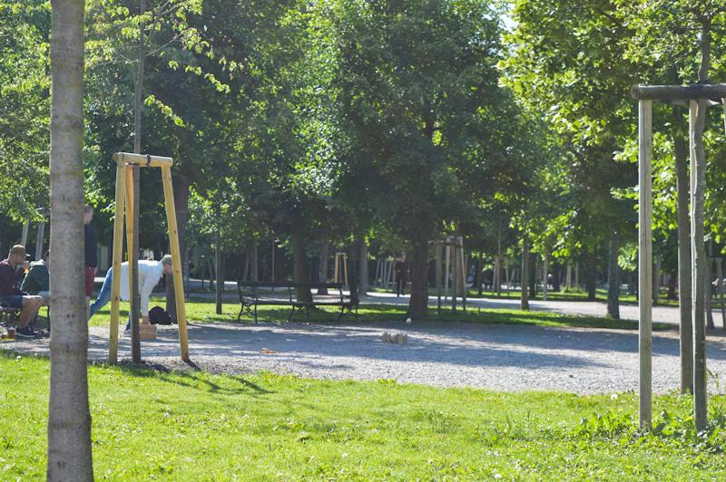 Augarten , park w którym odoczywają Wiedeńczycy,